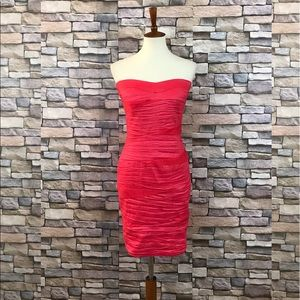 Poetry Strapless Tiered Cocktail Dress Size M